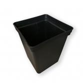 Горшок квадратный черный 11 л